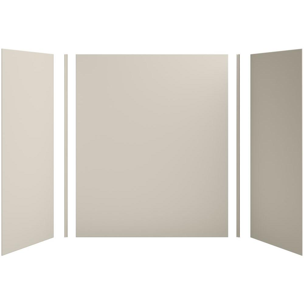KOHLER Choreograph 60in. X 32 in. x 72 in. 5-Piece Bath/Shower Wall Surround in Sandbar for 72 in. Bath/Showers