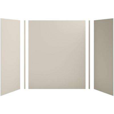 Choreograph 60in. X 32 in. x 72 in. 5-Piece Bath/Shower Wall Surround in Sandbar for 72 in. Bath/Showers