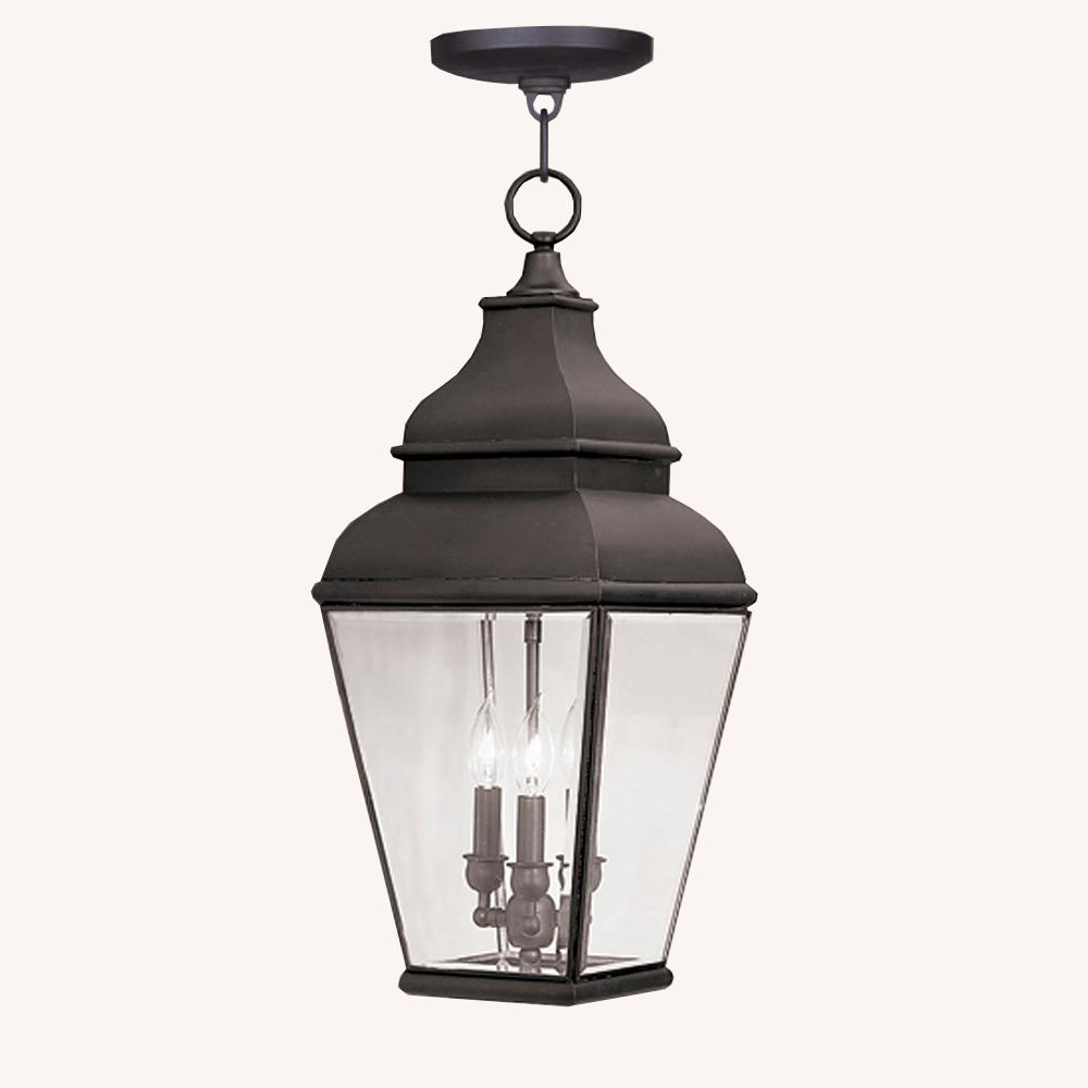 Livex Lighting Exeter 3-Light Bronze Outdoor Pendant