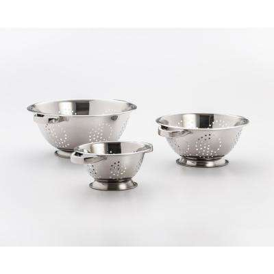 3-Piece Stainless Steel Colander Set