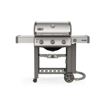 Genesis II S-310 3-Burner Natural Gas Grill in Stainless Steel with Built-In Thermometer