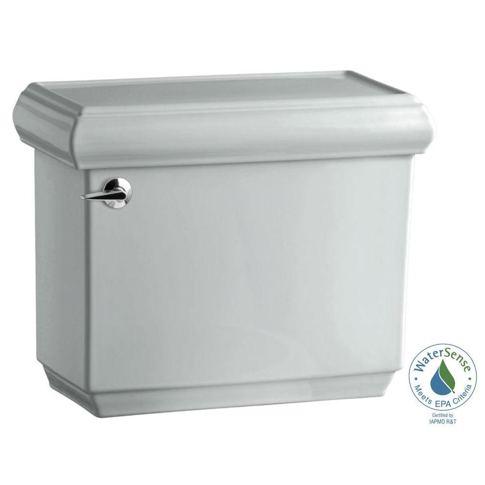 Memoirs 1.28 GPF Single Flush Toilet Tank Only with AquaPiston Flushing Technology in Ice Grey
