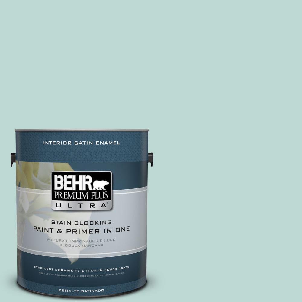 1-gal. #M440-2 Serene Breeze Satin Enamel Interior Paint