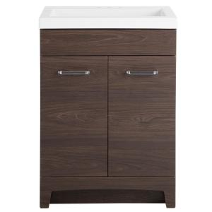 Stancliff 24.50 in. W x 18.75 in. D Bath Vanity in Elm Ember with Cultured Marble Vanity Top in White with White Basin