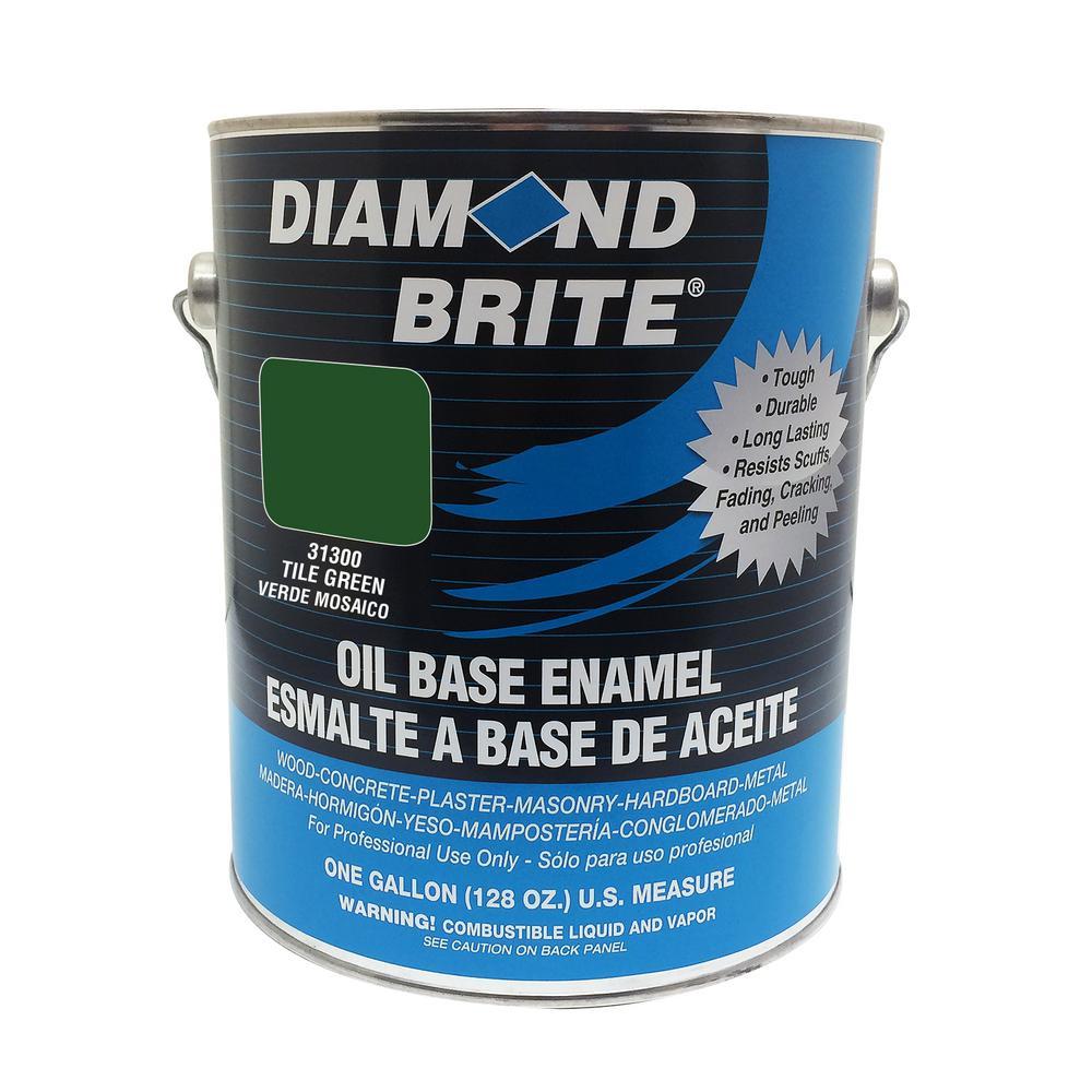 1 gal. Tile Green Oil Base Enamel Interior/Exterior Paint