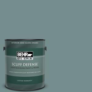 Behr Ultra 1 Gal Ppf 46 Leisure Time Semi Gloss Enamel Interior Paint And Primer In One 375301 The Home Depot