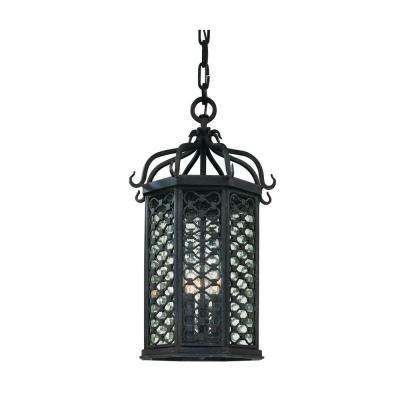 Los Olivos 3-Light Old Iron Outdoor Pendant