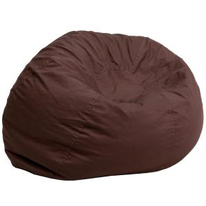 Flash Furniture Oversized Solid Brown Bean Bag Chair DGBEANLGSLDBN