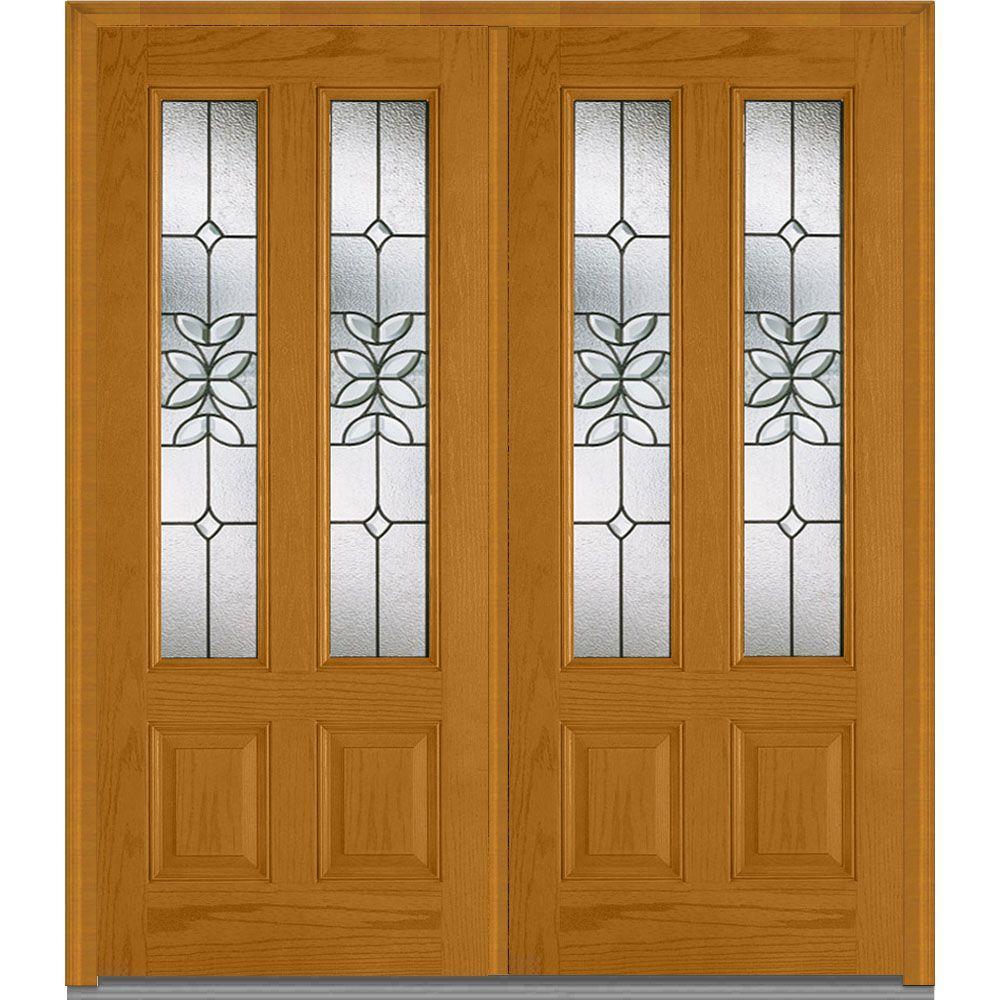 Double Doors Exterior Home Depot: MMI Door 74 In. X 81.75 In. Cadence Decorative Glass 2