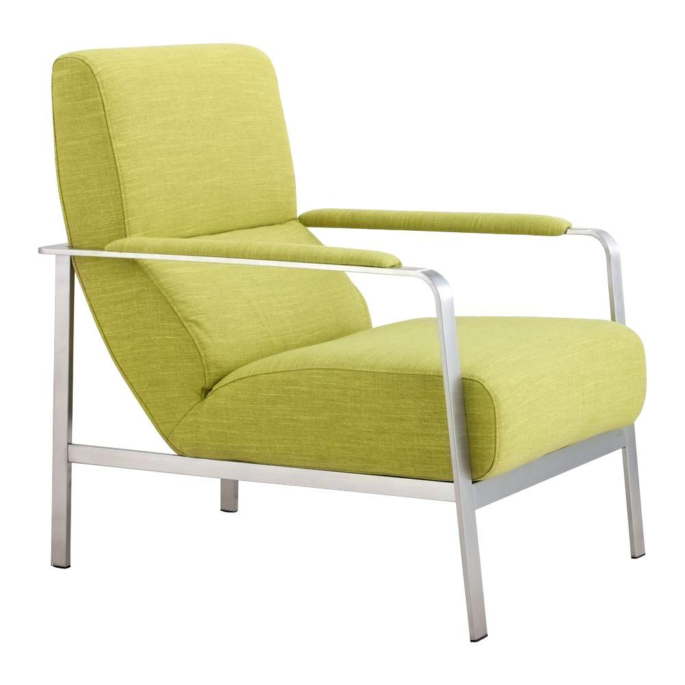 Superbe ZUO Jonkoping Lime Polyfiber Arm Chair