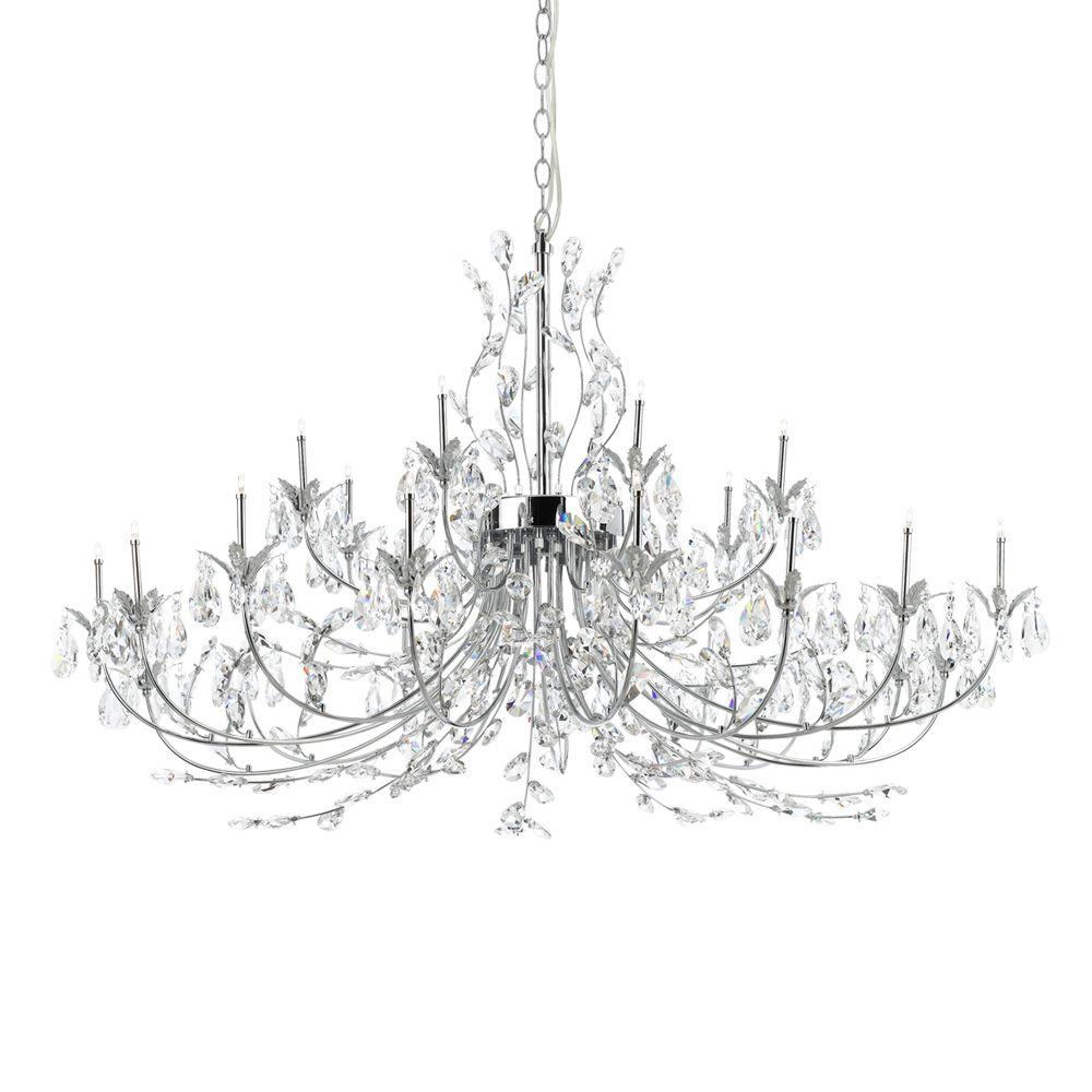 Eurofase Giselle Collection 24-Light Chrome Hanging Chandelier