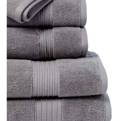 Summit 6-Piece 100% Cotton Bath Towel Set in Gunmetal