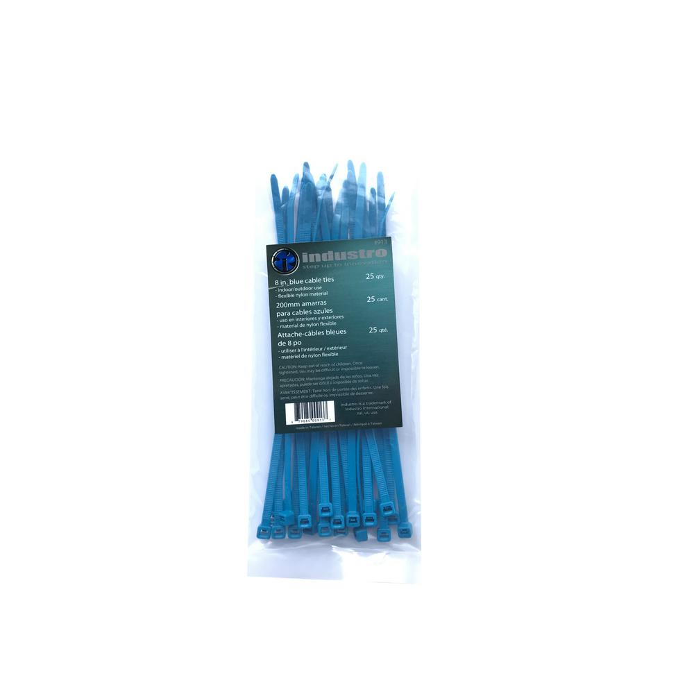 unbranded 8 in. Blue Cable Ties (25-Pack)