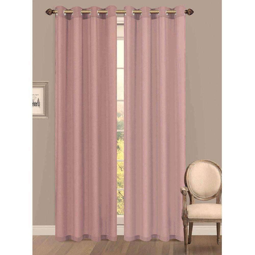 Semi Opaque Primavera Crushed Microfiber Grommet Extra Wide Curtain Panel