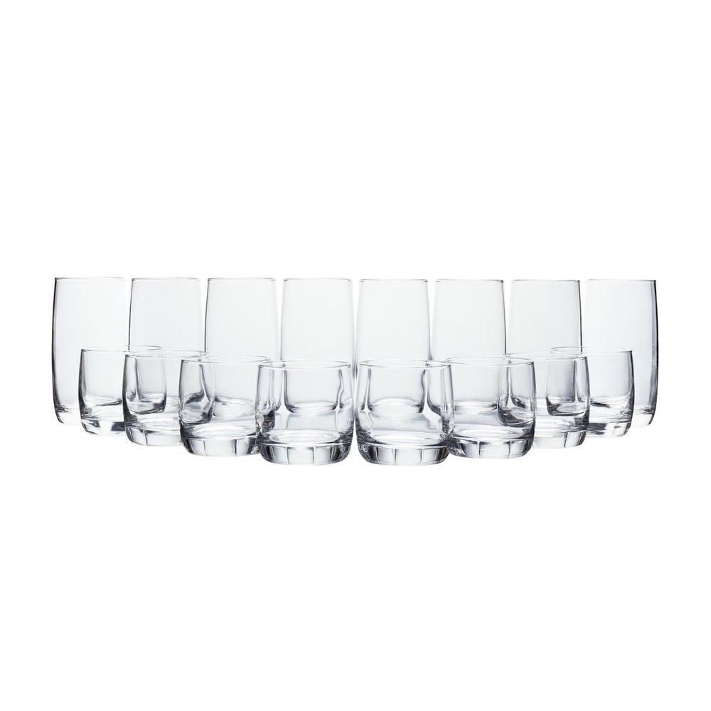 StyleWell 17 fl. oz. and 10 fl. oz. Glass Tumblers (Set of 16)