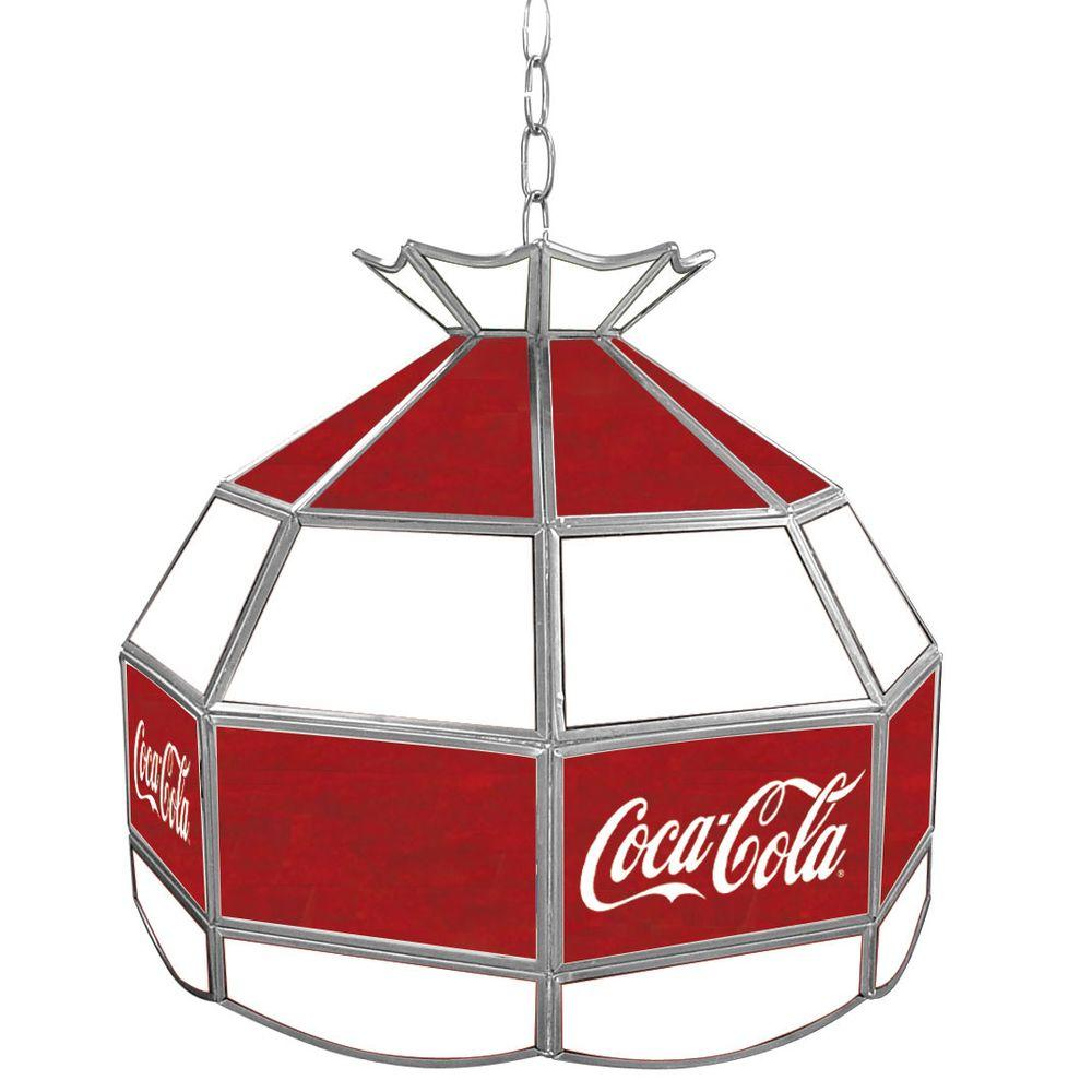 Trademark Global Coca Cola 16 in. Stained Glass Billiard ...