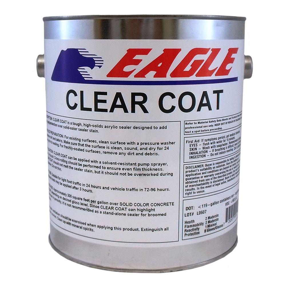 Eagle 1 gal  Clear Coat High Gloss Oil-Based Acrylic Topping Over Solid  Sealer