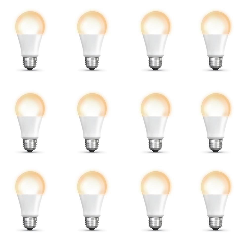 60-Watt Equivalent Soft White (2700K) A19 Dimmable Apple HomeKit LED Smart Light Bulb (12-Pack)