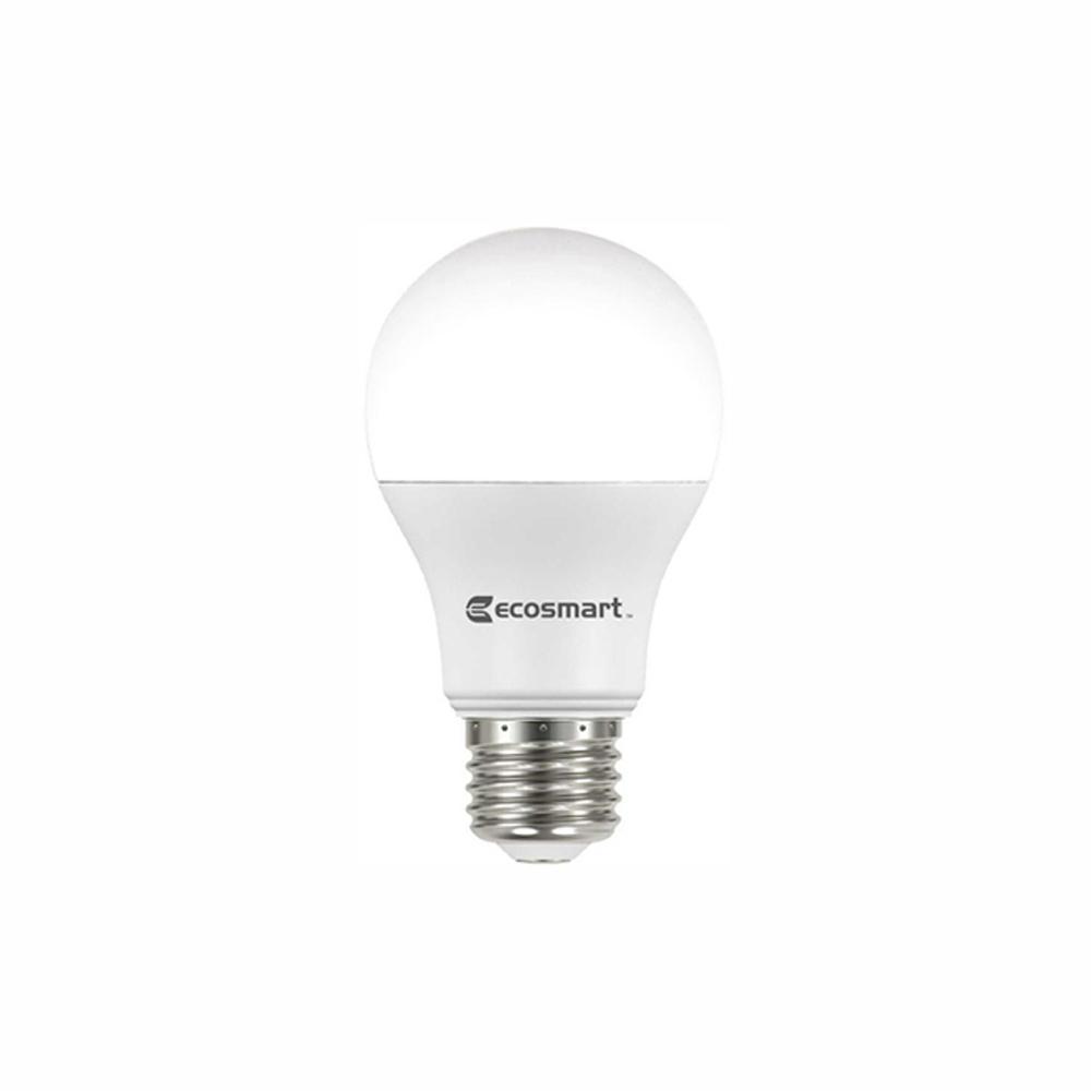 EcoSmart 60-Watt Equivalent A19 Non-Dimmable Energy Star LED Light Bulb  Soft White (32-Pack)