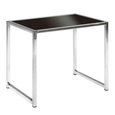 Yield Chrome Glass Top End Table