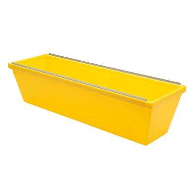 12 in. Heavy Duty Textured Yellow Plastic Mud Pan