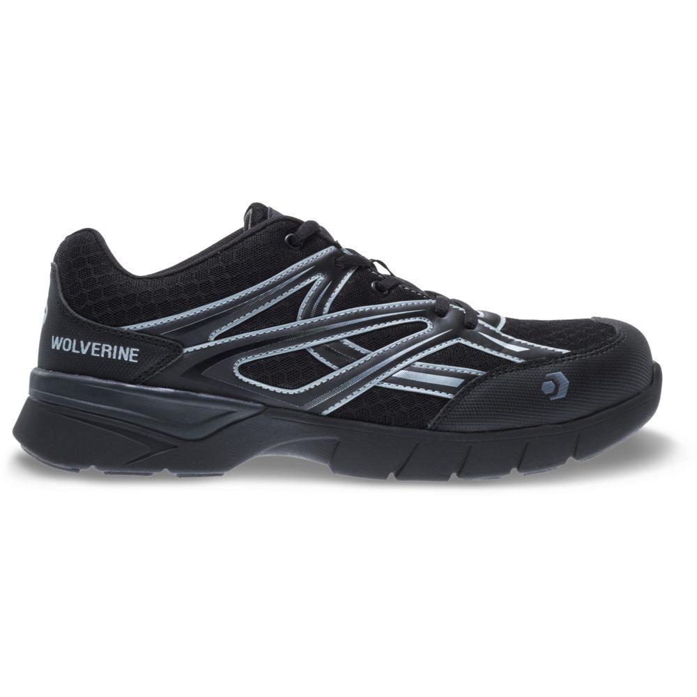 Men's Jetstream 11.5EW Black Mesh Composite Toe Shoe