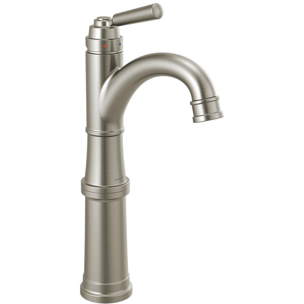 Peerless Westchester Single Hole Single-Handle Vessel Bathroom Faucet in Brushed Nickel