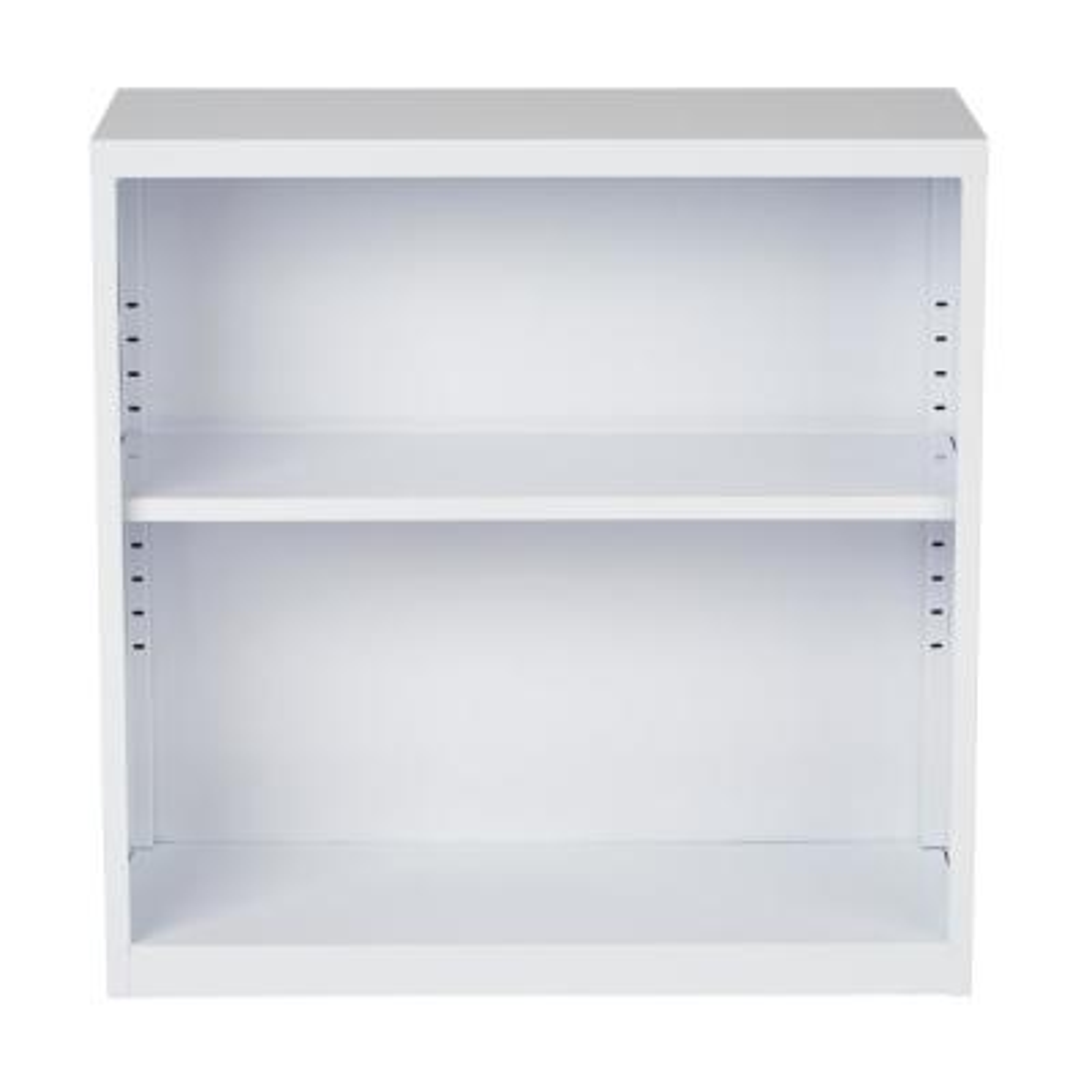 Metal Bookcase in White