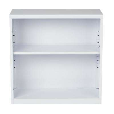 Metal Bookcase in White
