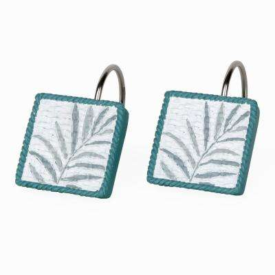 Maui Resin Freestanding Shower Curtain Hooks in Mulit-Color (12-Pack)