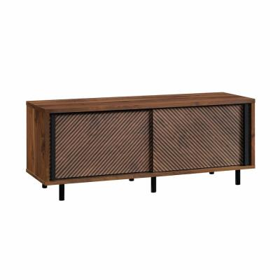 Harvey Park 54 in. Grand Walnut Particle Board TV Stand Fits TVs Up to 60 in. with Storage Doors