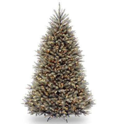 7-1/2 ft. Dunhill Blue Fir Hinged Tree with Clear Lights