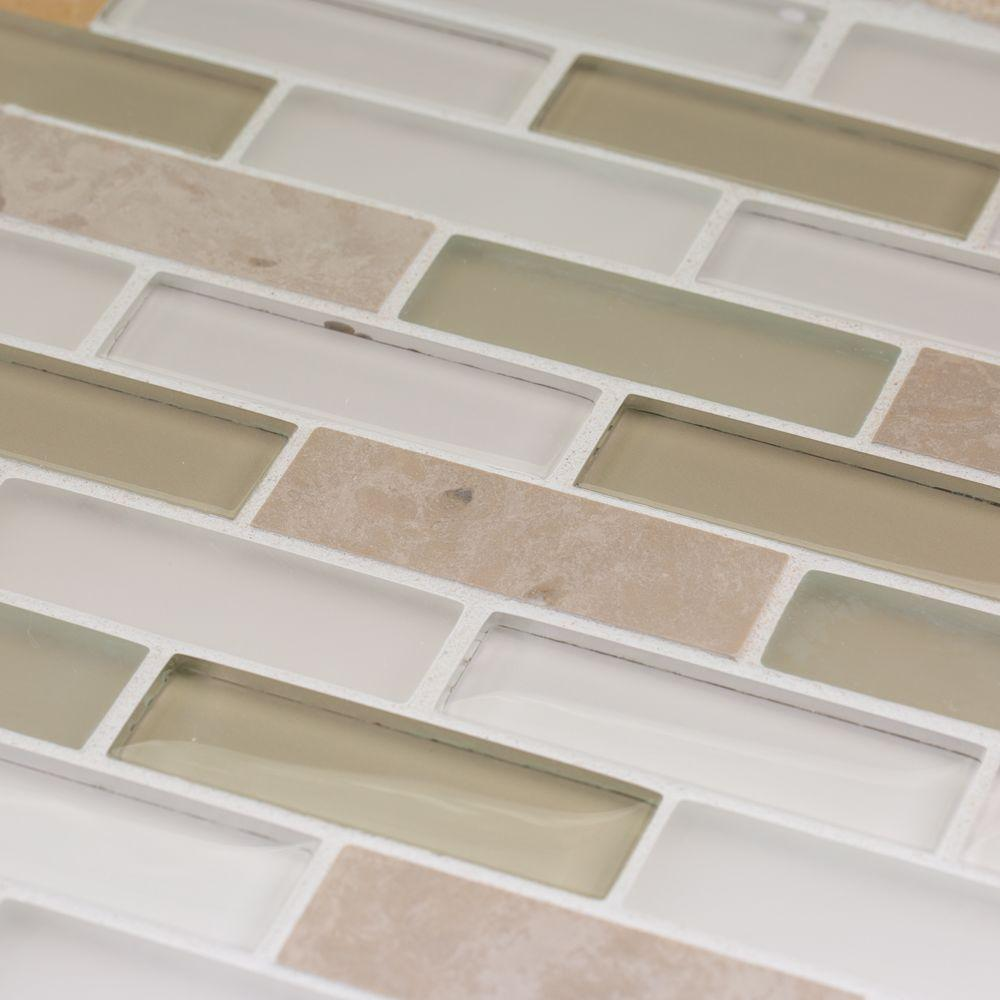 Jeffrey Court Lamport 12 in. x 12 in. x 8 mm Stone Marble Mosaic ...