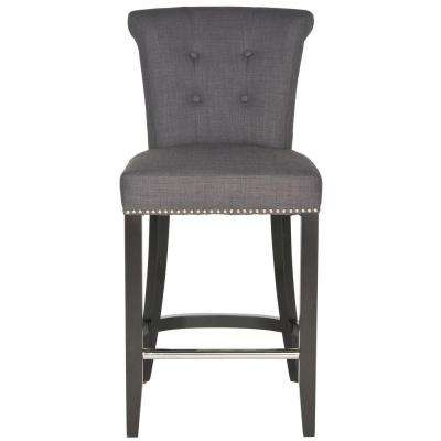 Addo 25.7 in. Charcoal Cushioned Bar Stool