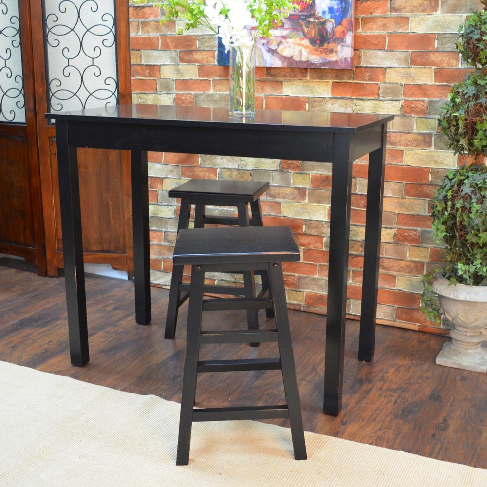 Carolina Cottage Cafe Antique Black Pub/Bar Table