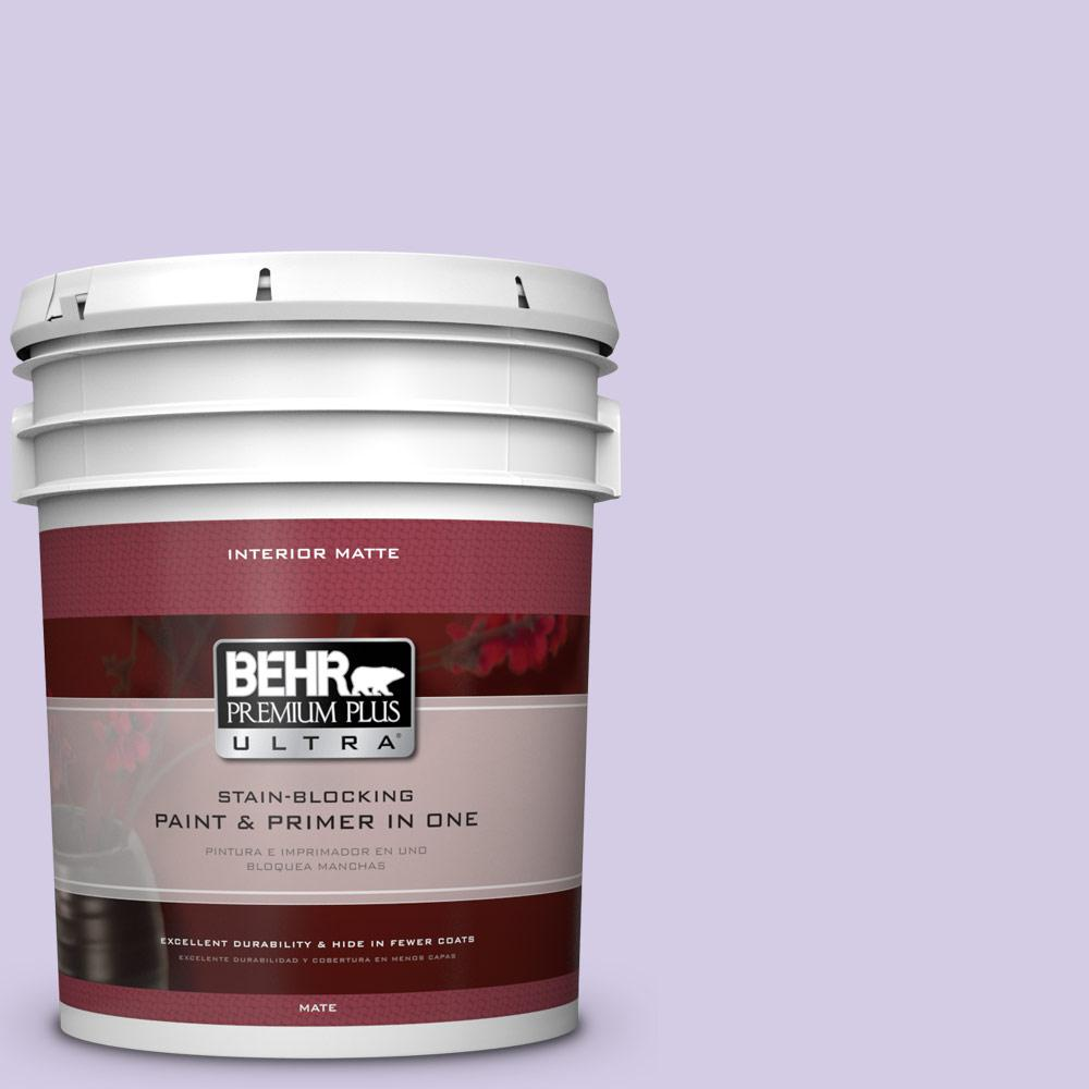 5 gal. #640A-3 Potentially Purple Flat/Matte Interior Paint