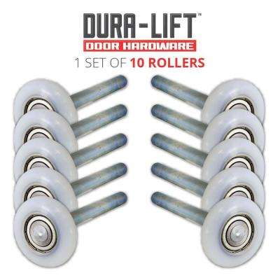 Ultra-Life 2 in. Nylon Garage Door Roller with Reinforced Bearing and 4 in. Steel Stem (10-Pack)