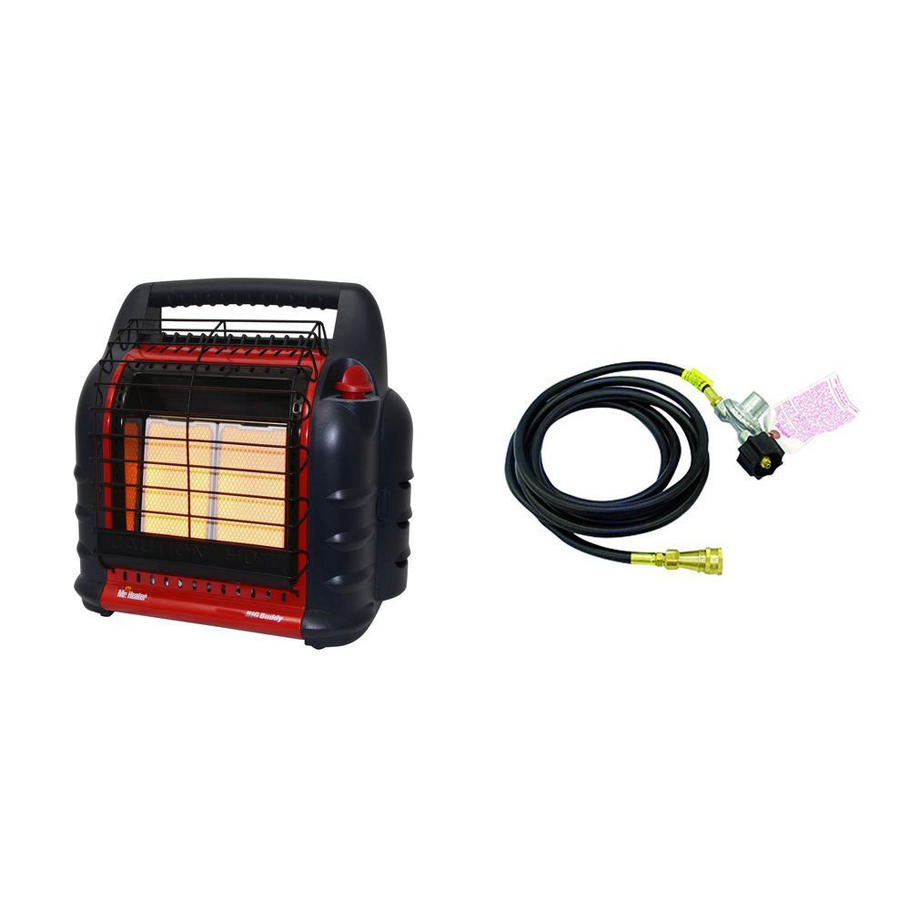 Big Buddy Portable Propane Heater & Adapter Hose with Regulator