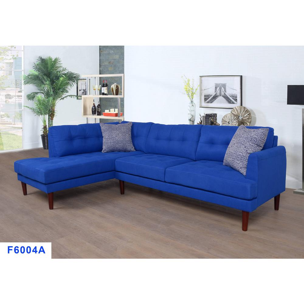 2 piece azure blue right sectional sofa set sh6004a the home depot