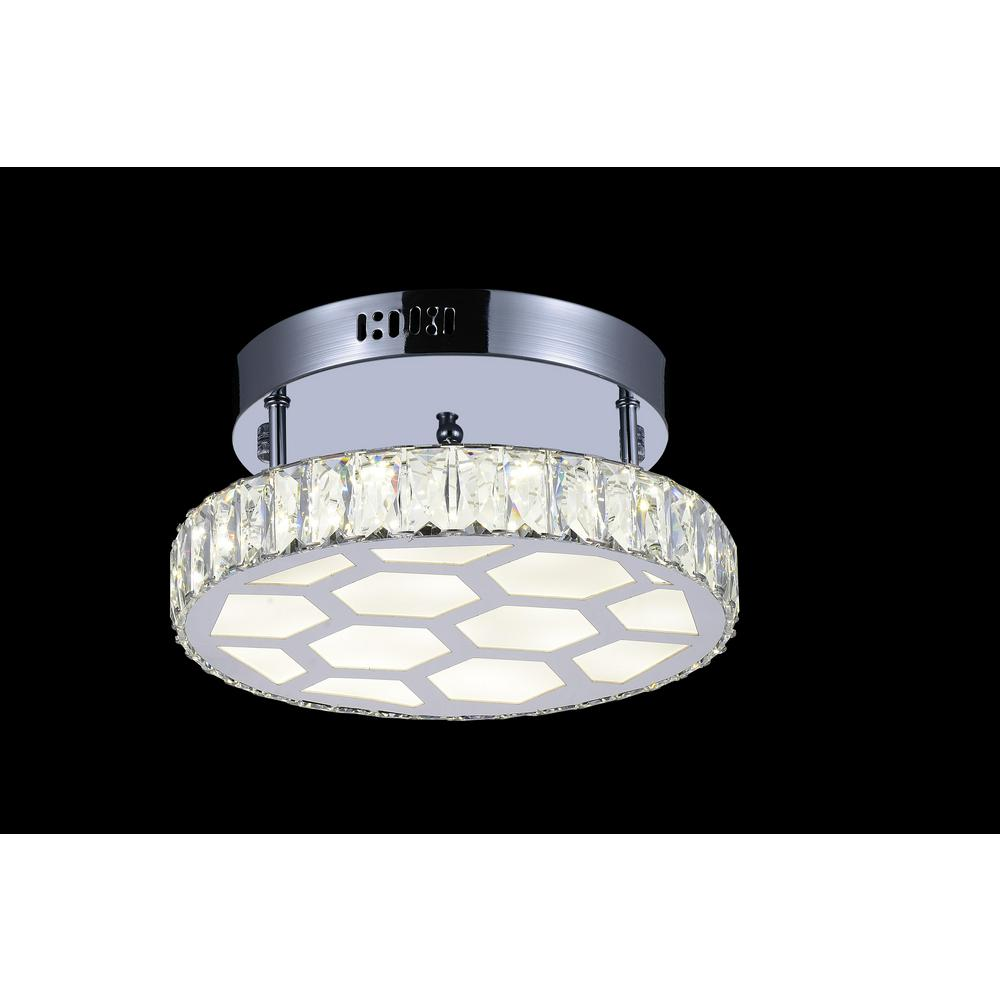 Chelsea 1-Watt Chrome Integrated LED Ceiling Semi-Flushmount