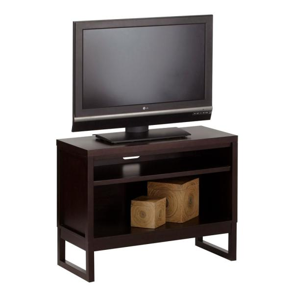 Progressive Furniture Athena 40 In Dark Chocolate Wood Tv Stand Fits Tvs Up To 50 In With Cable Management P109e 80 The Home Depot