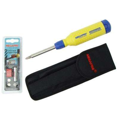 15 in 1 Stainless Steel Screwdriver System with Case Holster and FREE Light