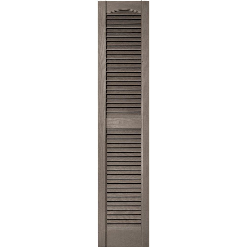 Builders Edge 12 In X 55 In Louvered Vinyl Exterior