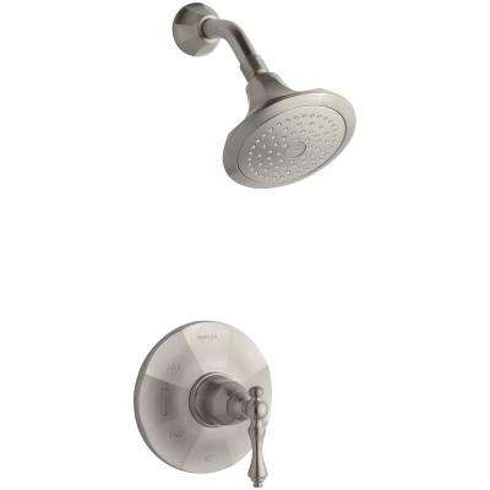 Kelston 1-Spray 6.5 in. 2.5 GPM Fixed Showerhead in Brushed Nickel