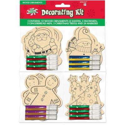 3.5 in. x 3 in. Christmas Ornament Decorating Kit Assortment (12-Count)