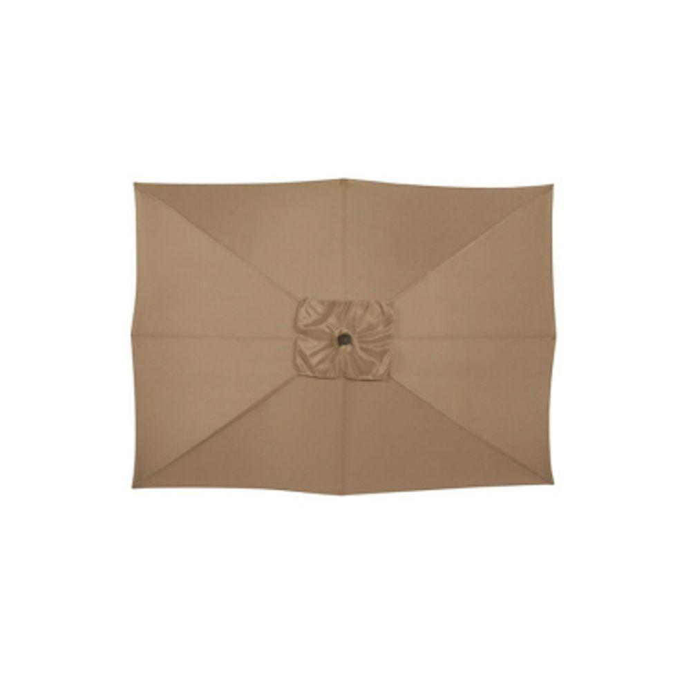 Martha Stewart Living Cardona 9 ft. Patio Umbrella in Cinnabar-DISCONTINUED