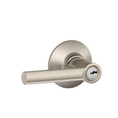 Broadway Satin Nickel Keyed Entry Door Lever