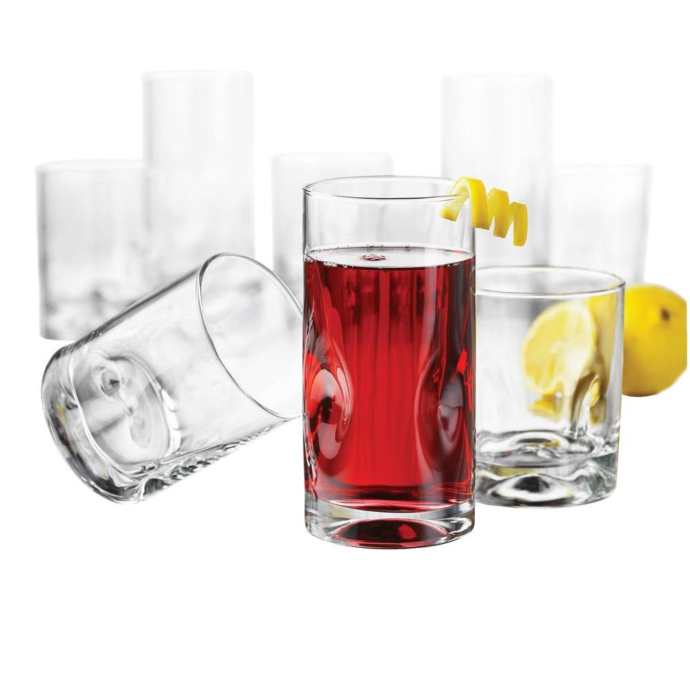 Libbey 16-Piece Crisa Impressions Beverageware Set in Clear