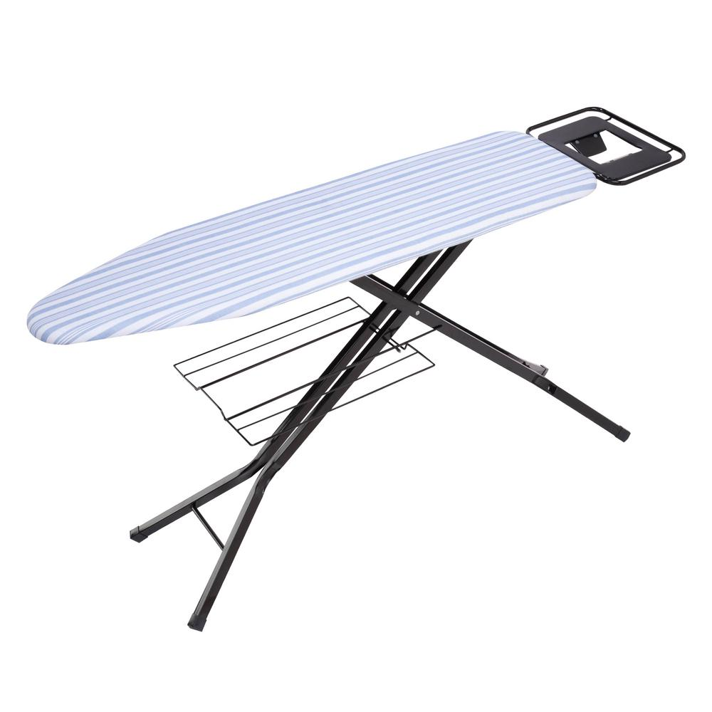 honey can do adjustable deluxe ironing board with iron. Black Bedroom Furniture Sets. Home Design Ideas