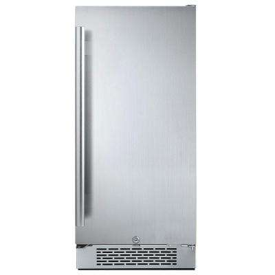 15 in. W 3.3 cu. ft. Freezerless Refrigerator in Stainless Steel, Counter Depth